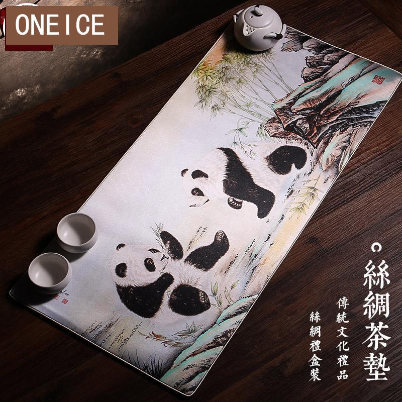 Estera de té de seda estilo chino Pekín regalo especial para negocios extranjeros pequeño regalo de reunión anual de regalo