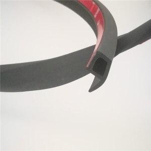 Image 1 - Автомобильное резиновое уплотнение типа P, 3 м, шумоизоляция, звукоизоляция, водонепроницаемые резиновые уплотнительные полосы, отделка краев, защита от пыли, резиновый герметик для автомобильной двери