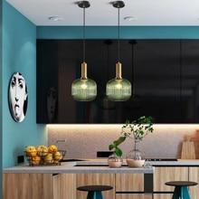Moderne verre abat-jour suspension boule de verre chevet suspension lampe chambre lampe salon lustre suspension cuisine luminaire raccord