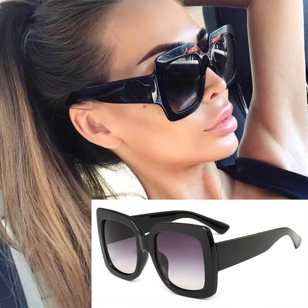 45283 luxo bling óculos de sol feminino quadrado óculos de sol brilhante frame cristal marca moda feminina tons uv400