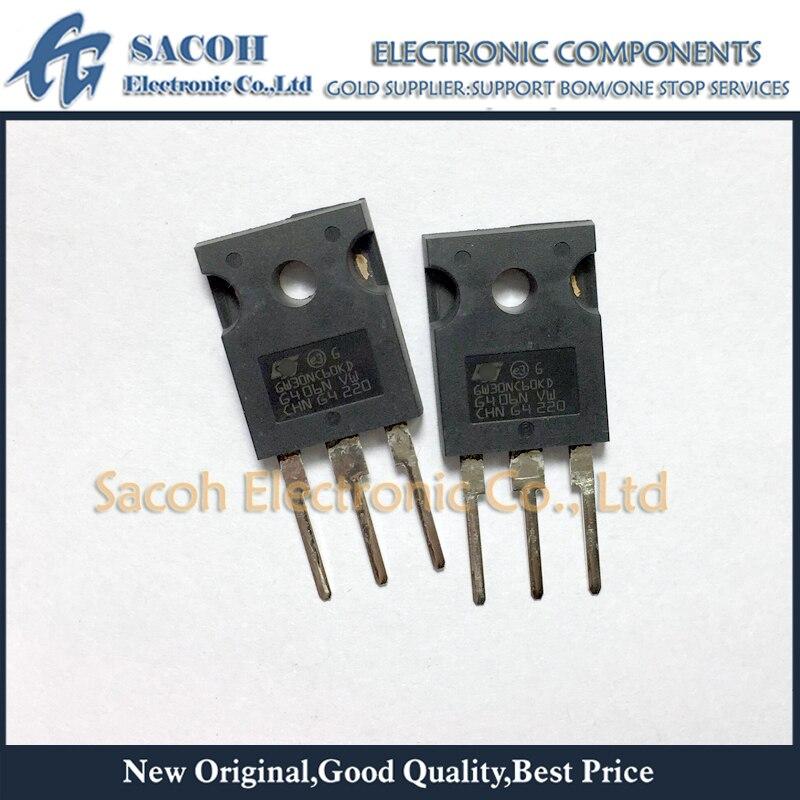 Frete grátis 10 pçs stgw30nc60kd gw30nc60kd ou stgw30nc60vd gw30nc60vd para-247 30a 600v curto-circuito igbt áspero
