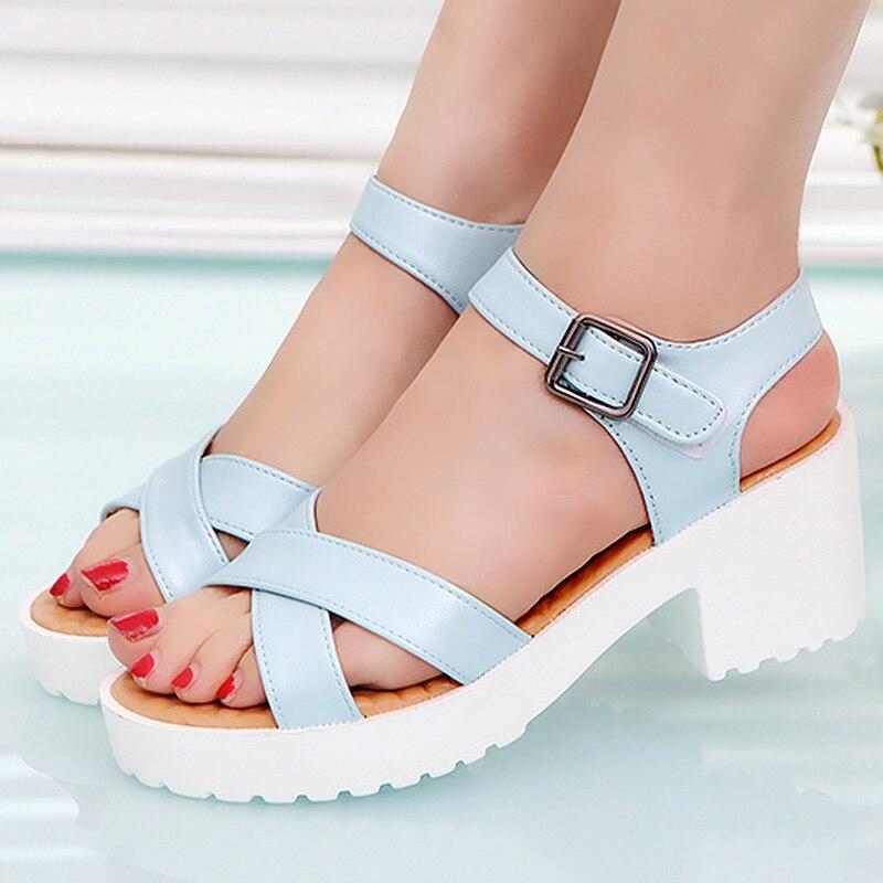 Large size 41/42/43/44/45 Women sandals Buckle Strap Designer Heels sandals woman Increase Sexy Womens sandals