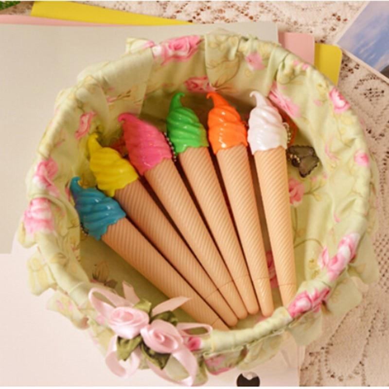Pluma de dibujo juguetes chico estudiantes hielo crema Gel pluma caneta material escolar regalo nueva venta