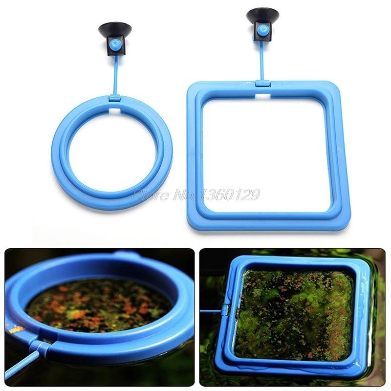 Anillo de alimentación para acuario, tanque de peces, estación flotante alimentador de comida, Cuadrado/Círculo Oct12, venta al por mayor y triangulación de envíos