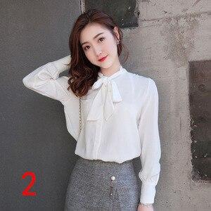 J51980 женская шифоновая рубашка, повседневные модные рубашки