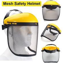 Kettensäge Garten Gras Trimmer Sicherheit Helm Hut mit Volle Gesicht Mesh Visier für Protokollierung Pinsel Cutter Forstwirtschaft Schutz
