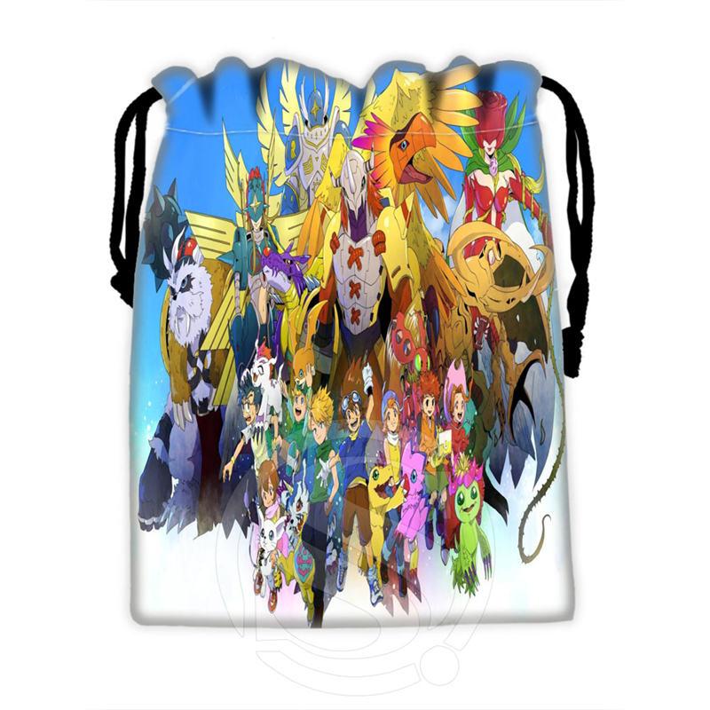 Diseño de Moda personalizado Digimon #3 bolsas con cordón para teléfono móvil tableta PC embalaje bolsas de regalo 18x22cm SQ00715-@ H0285