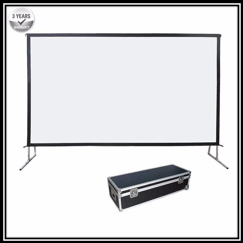 P1HRG 169 HDTV portátil pliegue rápido deluxe plegable pantalla de proyección con pantalla de proyección