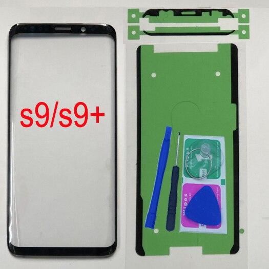 Для Samsung Galaxy S9 G960 G960F Оригинальная передняя стеклянная панель для Samsung S9 Plus G965 G965F Замена сенсорного экрана