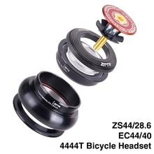 "ZTTO bicicleta MTB bicicleta casco para carretera bicicleta 4444T 44mm ZS44 CNC 1 1/8 ""-1 1/2"" 1,5 cónica tubo de la horquilla interna Threadless EC44 auriculares"
