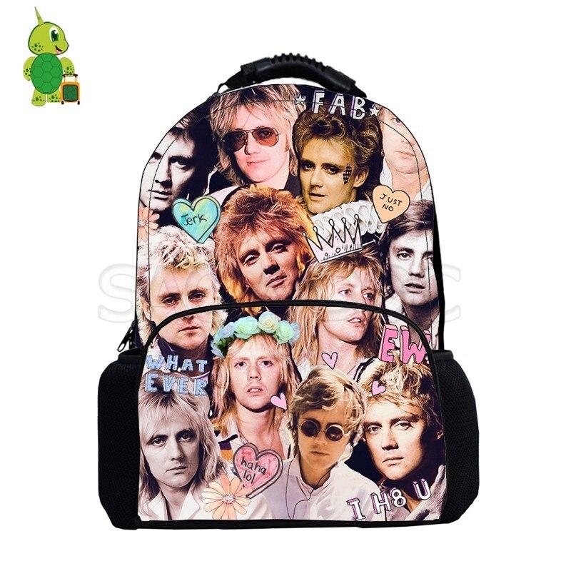 Mochila con estampado de Roger Taylor para hombres y mujeres, mochila grande para ordenador portátil, mochila escolar para niños y niñas, bolsas de viaje para Fans de Rock Star, regalo