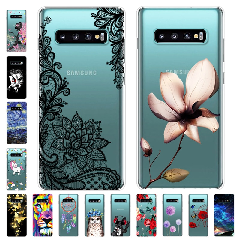Funda para Samsung de dibujos animados S10 Plus suave funda de silicona para teléfono funda para Samsung Galaxy S10 Plus galays10 S10E S 10