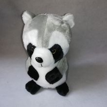 about 25cm gray raccon plush toy cute raccoon soft doll Xmas gift h2145