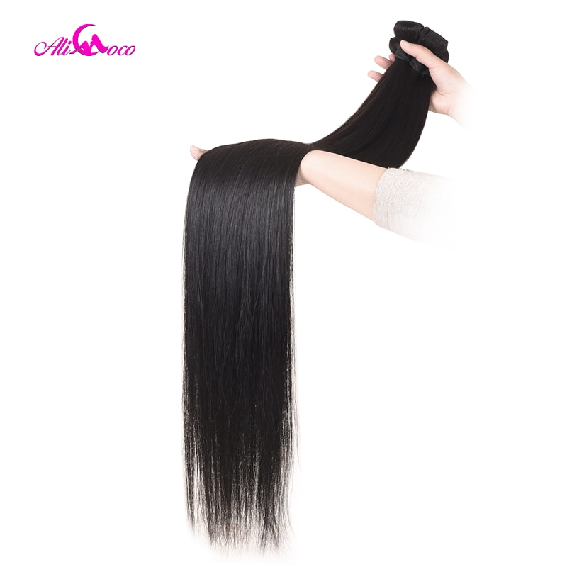 Ali Coco Hair 30 Inch 32 34 36 38 Inch 40 Inch Weave Bundles Brazilian Hair Straight Remy Human Hair