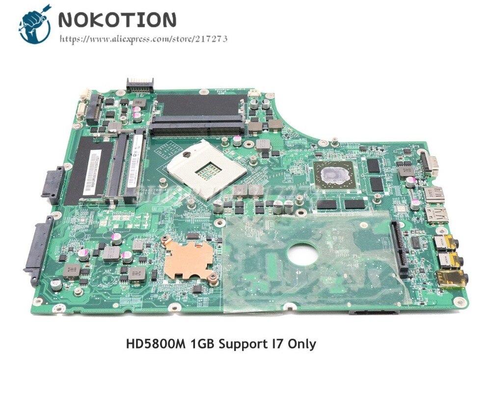 NOKOTION For Acer aspire 7745 7745G Laptop Motherboard MBPUM06001 DA0ZYBMB8E0 MAIN BOARD DDR3 HD 5850M 1GB Support I7 Only