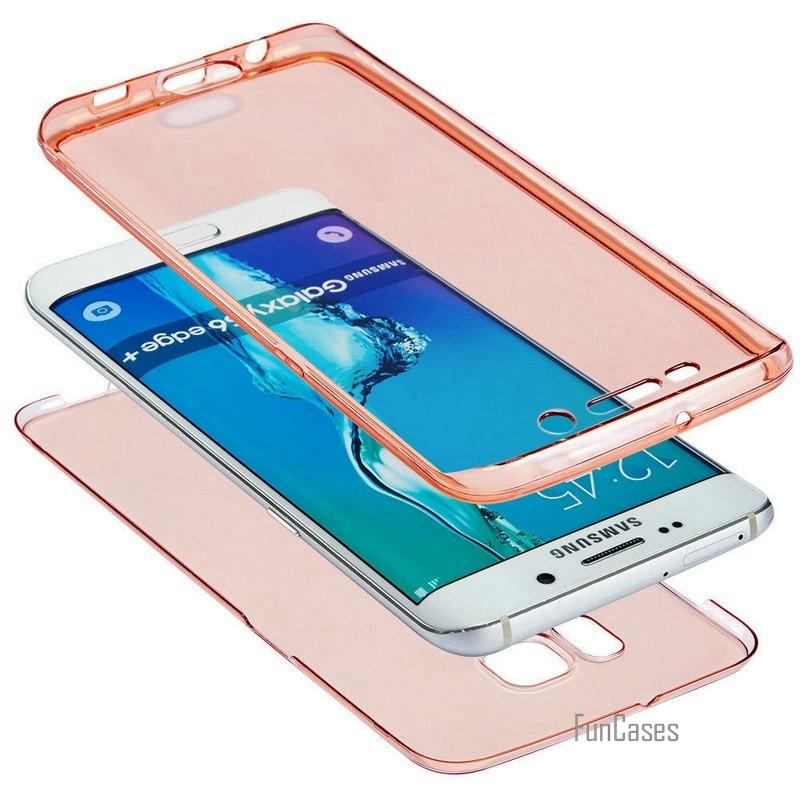 Carcasa transparente de cuerpo completo para Samsung Galaxy S20 Plus Ultra S10E S9 S8 S10 Lite, carcasa frontal de TPU suave 8 7 para iPhone 6 Plus 5