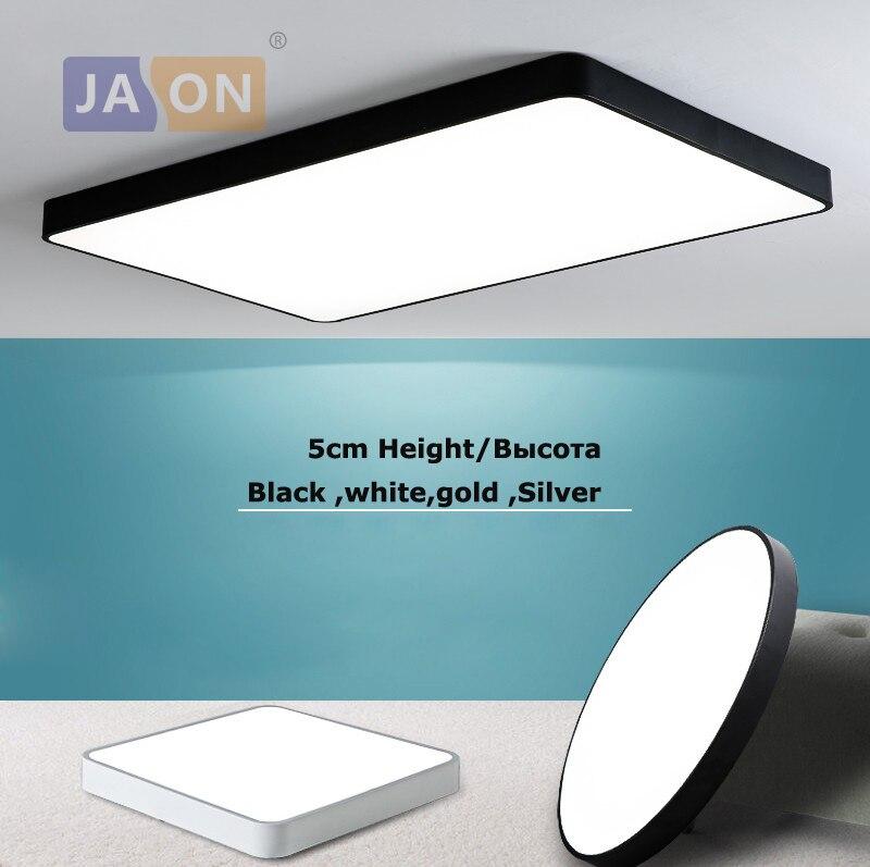 LED moderna de acrílico 5cm cuadrado negro de oro blanco plata lámpara LED lámpara de iluminación LED luz LED lámpara para Foyer