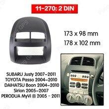 2 Din Car Radio stereo Fitting installation fascia For SUBARU Justy for TOYOTA Passo Stereo Frame Fascias Mount Panel trim DVD