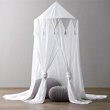 Tienda de campaña para cuna de bebé, mosquitera con borlas de encaje, red para cama de bebé, dosel para guardería, decoración para habitación de bebé