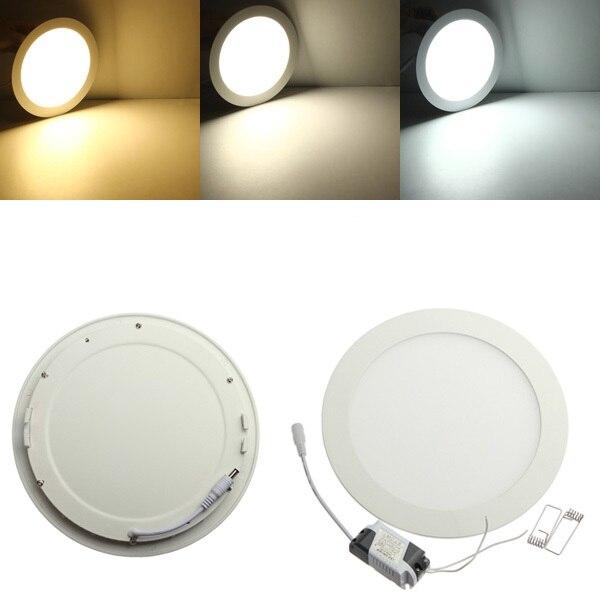12 V 24 V Panel de luz led 6 W 9 W 12 W 15 W 25 W empotrada de techo LED luz descendente interior con adaptador de 12 V/24 V LED