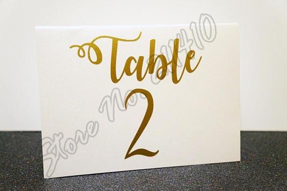 Custom Wedding Table Number Decal Sticker Reception Bridal Shower Decor Wall Sticker B276