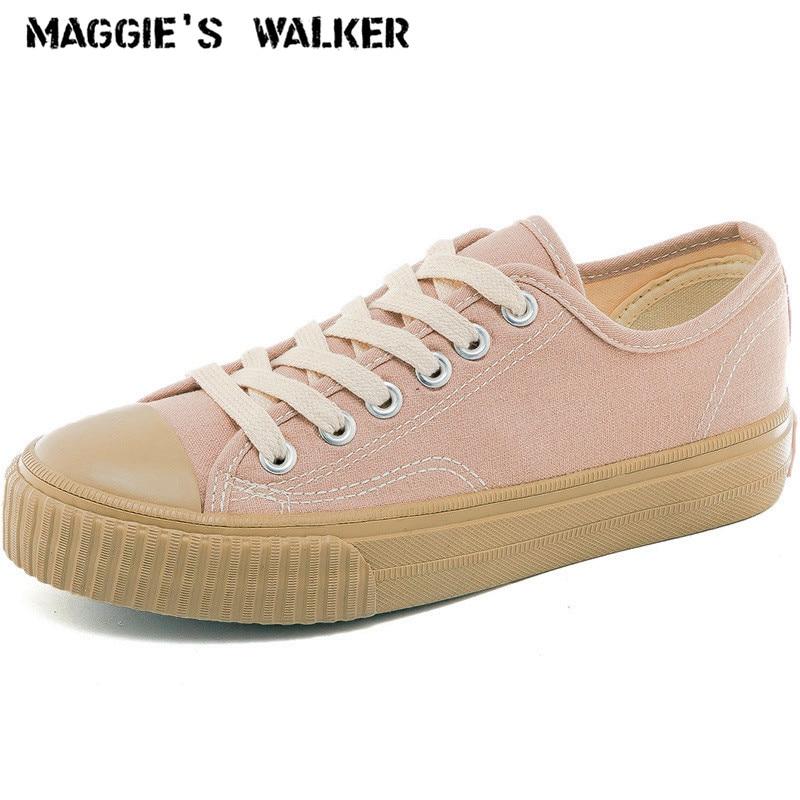 Maggies Walker Women Fashion Canvas Casual Shoes Lacing Platform Out-door Shoes Size 35-40