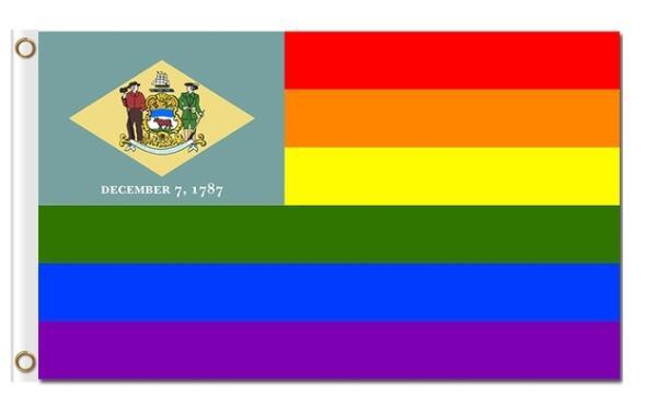 Bandera del Orgullo gay de la bandera del arcoíris del Estado de América personalizado de 3x5ft