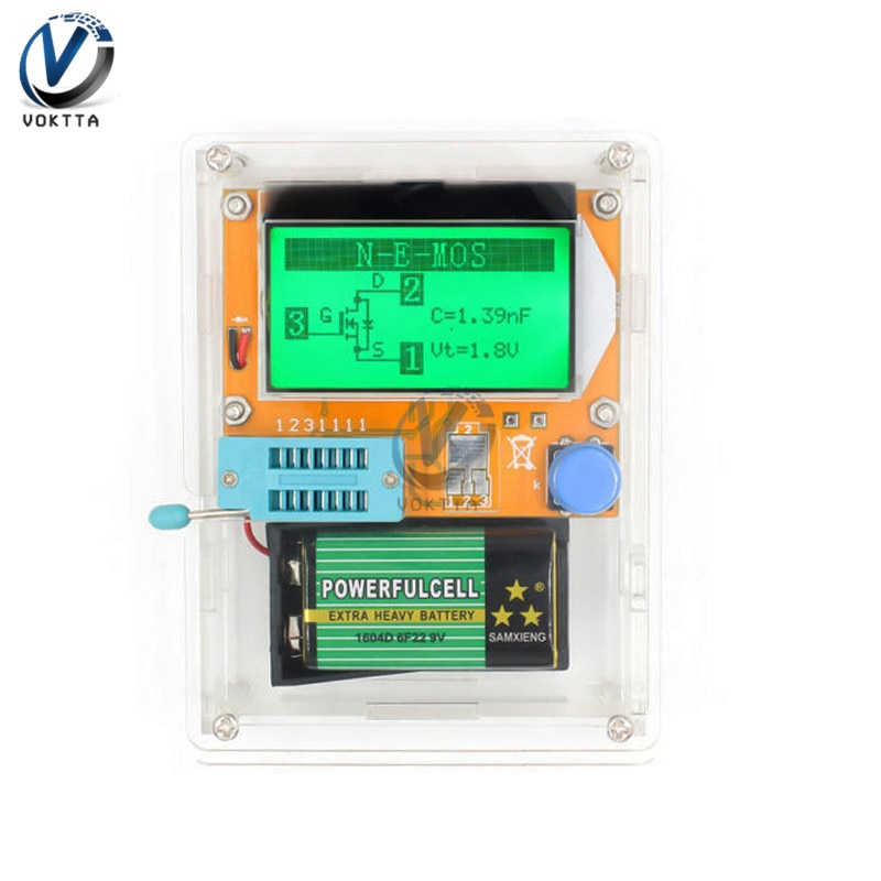 V2.68 ESR-T4 mega328 digital transistor tester triode diodo capacitância esr medidor para mosfet/pnp/npn lcr 12864 lcd tela tester