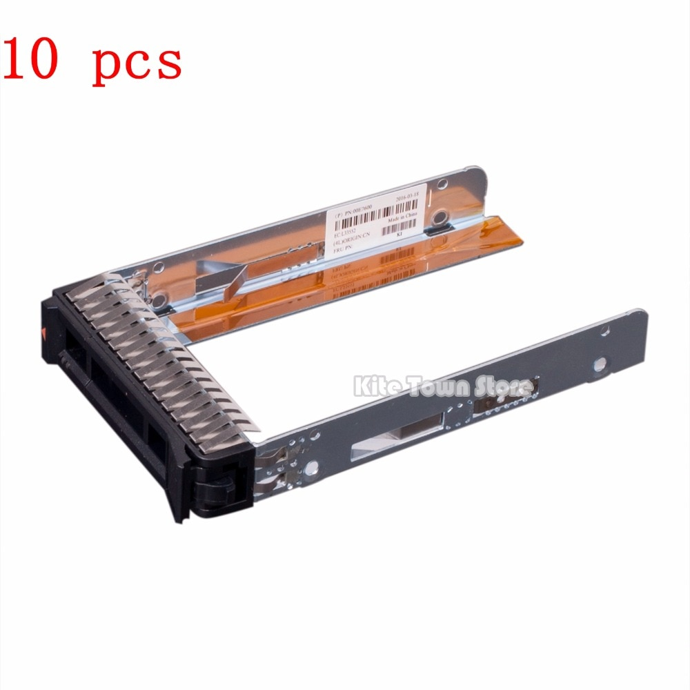 "10 pcs 2.5 ""Drive Tray Caddy para IBM/Lenovo X3650 M5, X3550 M5, X3250 M5, x3850 X6, X3950 X6. 00E7600 L38552"
