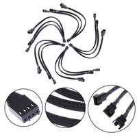 30 Cm Line With Shun4 Pin To 3 Y-shaped Shuncable Pwm Extension Cable Fan Shuncable Supporting 4 3 Needle Fan Jq0326 Connector