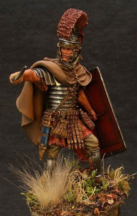 124 Resin Figure Model Kit Unassambled  Unpainted //G475 Roman warrior