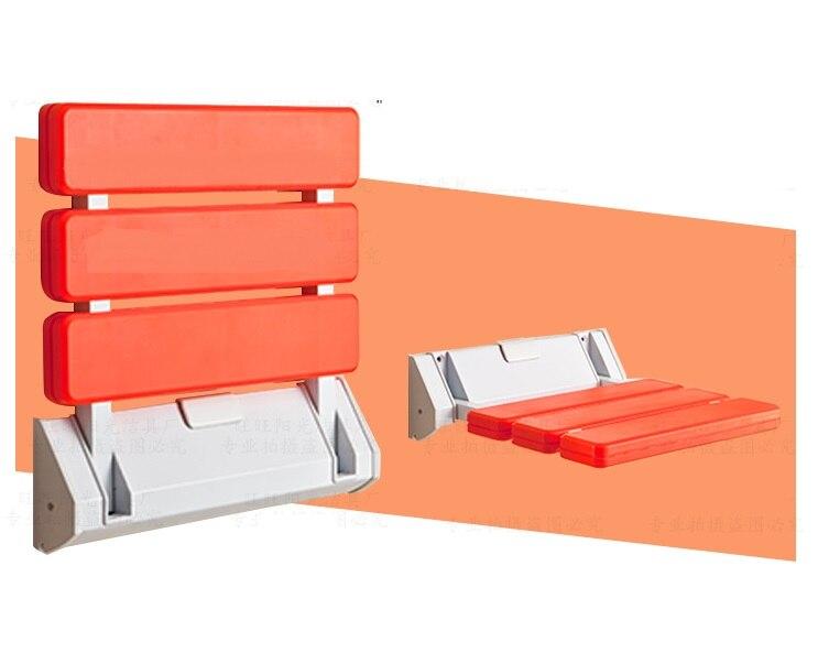 Premintehdw ABS جدار جبل الحمام مقعد قابل للطي أضعاف مقاعد دش RV مقعد