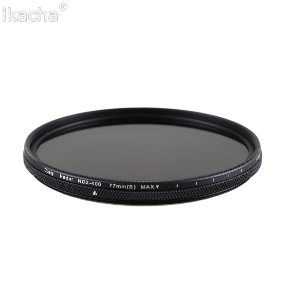 49 52 55 58 62 67 72 77 82mm Slim Adjustable Neutral Density ND2-400 Filter for Canon Nikon Sony All Camera Lens