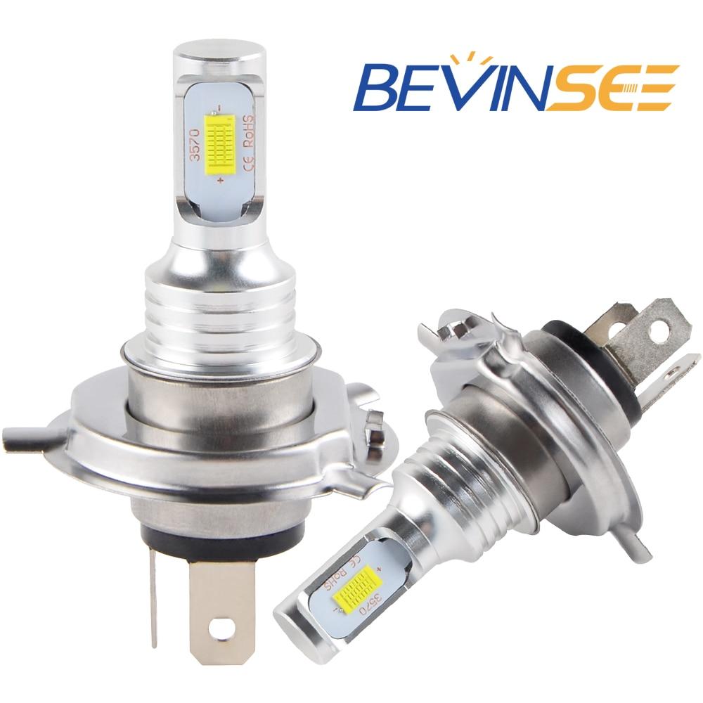 NICECNC 100W/Pair Motorcycle H4 Headlight Bulbs 6500K White LED Light Lamp For KTM 125 EXC 2000 2001 XC-W XCW 2018