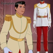 Cendrillon Prince charmant Cosplay costumes dhalloween Costume fantaisie dessin animé Prince costume sur mesure vêtements de mariage