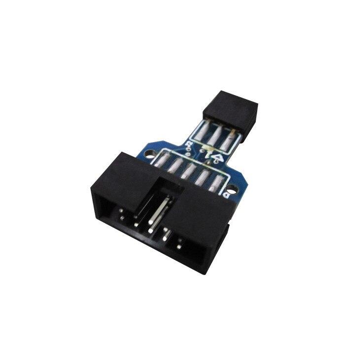 50 шт. 10 Pin на 6 Pin адаптер плата для AVRISP MKII USBASP STK500 высокое качество
