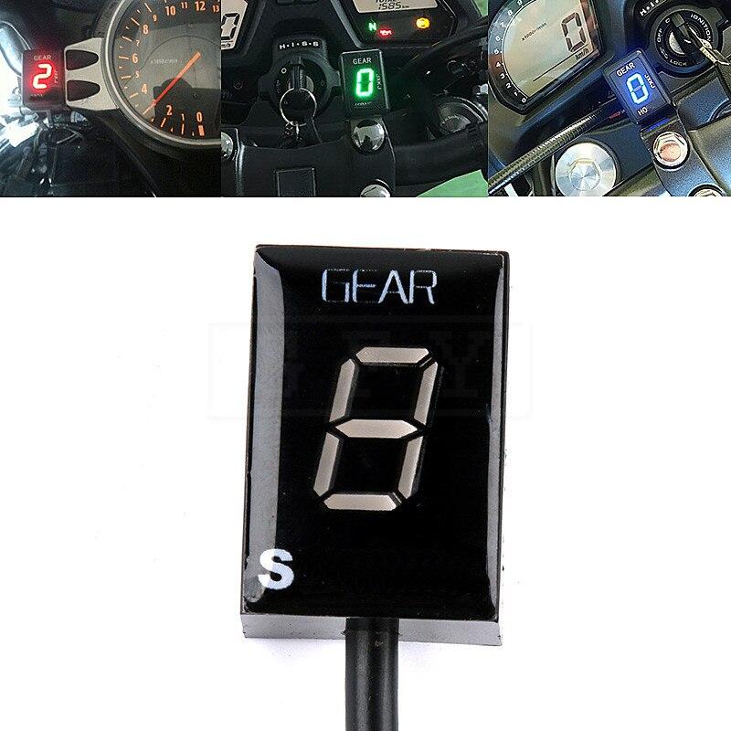 Motorcycle LCD Electronics 6 Speed 1 - 6 Level Gear Indicator Digital Gear Meter For Suzuki SV1000 SV650 SV 650 1000 V-strom FI