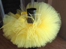 Jupes Tutu jaunes mignonnes pour filles   Jupes de Ballet, en Tulle, avec nœud ruban, Costume de fête pour enfants