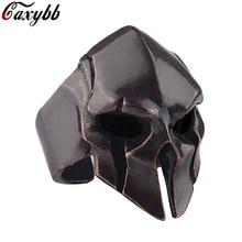 Spartan Hero Helm Masker Ring Voor Mannen Vintage Punk Biker Sieraden Mannelijke Koele Antiek Zilver Goud Kleur Vinger Ringen