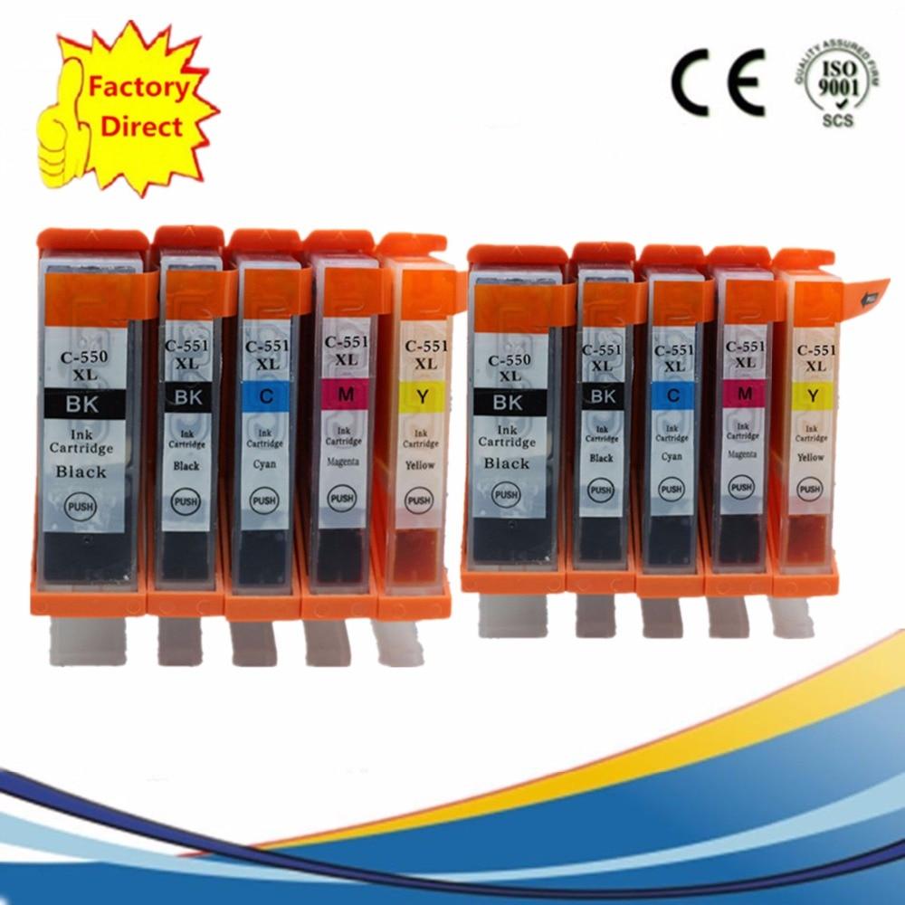 PGI550 PGI-550XL Замена чернильных картриджей для PGI-550, Pixma MX925 MX725 IX6850 IP8750, CLI-551, MG-5450