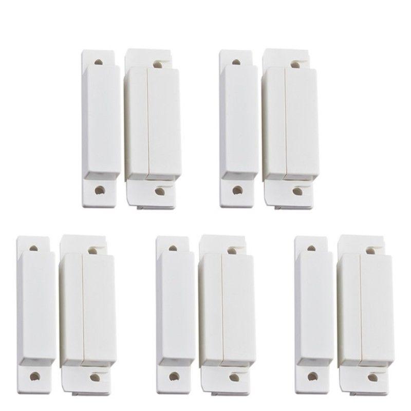 5 PCS Janela Da Porta Com Fio Detector Sensor de Contato Magnético Da Porta Interruptor Do Sensor Para O Sistema de Alarme do Assaltante Kit