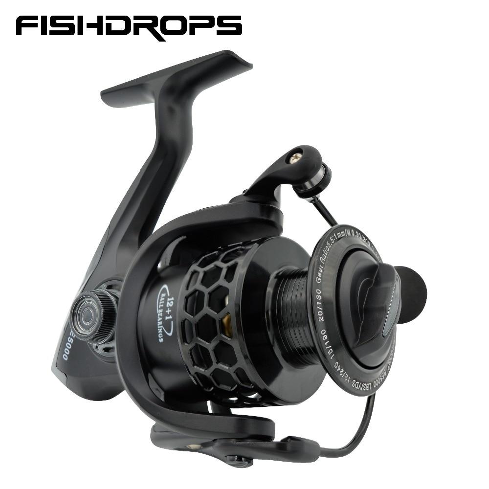 Fishdrops Fishing Reels Spinning Reel 12bb Saltwater Lightweight Pesca Size 1000-7000 Fishing Wheel Coil Hot Sale