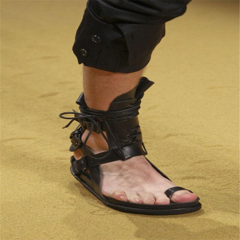 Haute qualité Roma plage sandales décontractées croix boucle sangle rue été cool chaussures