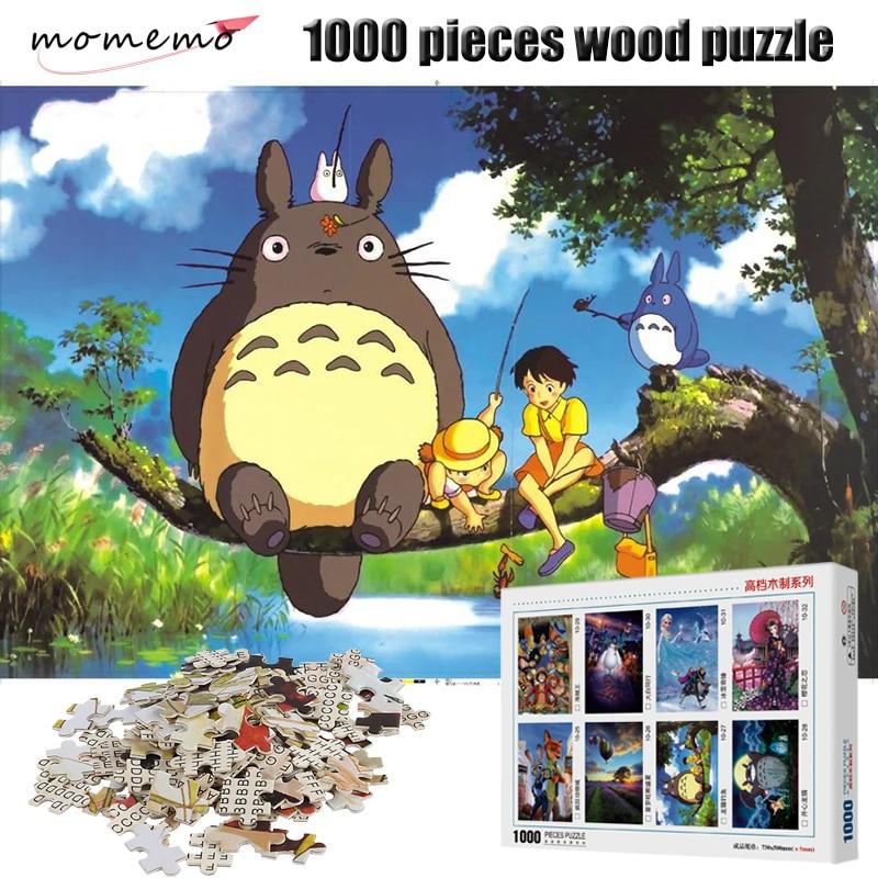 Momeo-Puzzle en bois mon voisin Totoro, Puzzle en bois, style de dessin animé, jouets éducatifs pour enfants, 1000 pièces, 1000 pièces