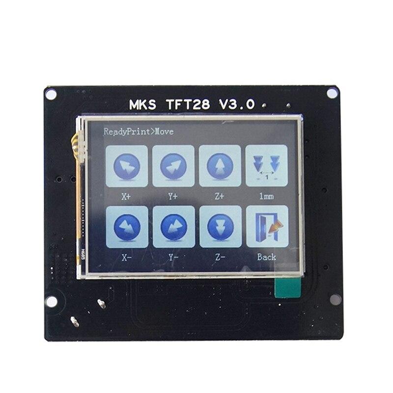Elementos de impresora 3d, pantalla táctil MKS TFT28 V3.0 para panel de controlador RepRap, pantalla colorida, Monitor lcd de pantalla de salpicadura SainSmart