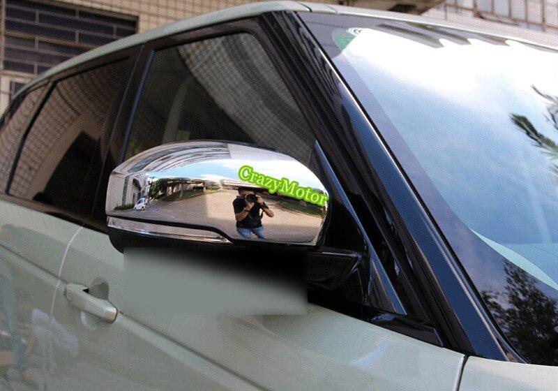 Para Land Rover Discovery 4 LR4 2010-2015 cromado espejo retrovisor decoración cubierta embellecedora estilo de coche