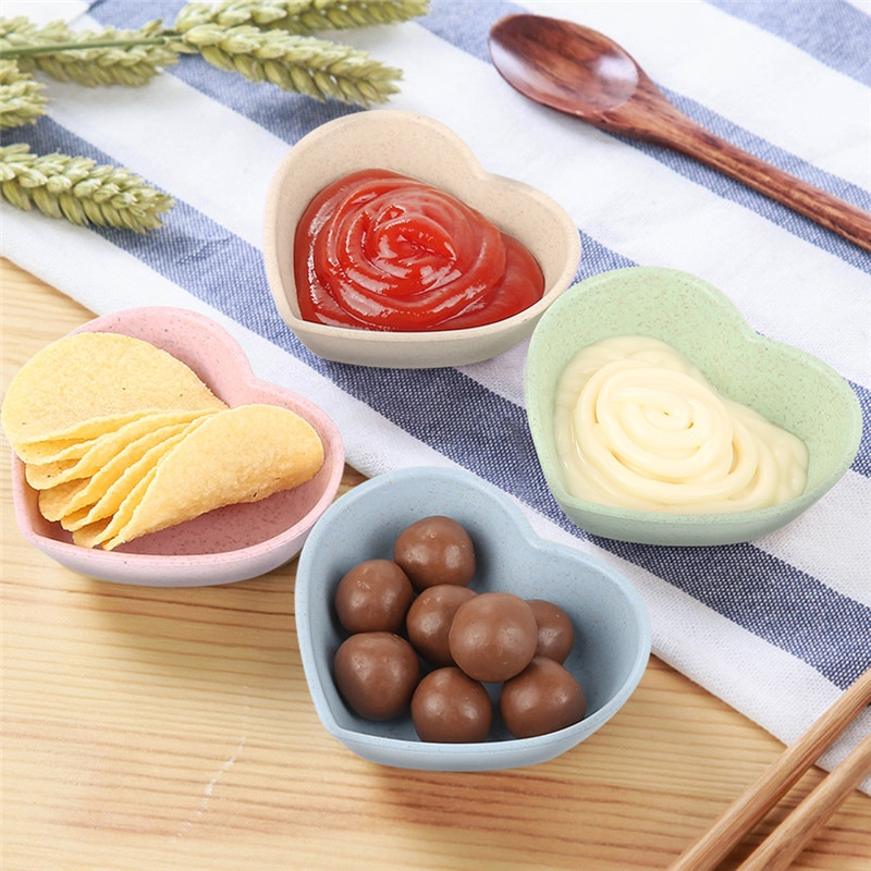 Kitchen Plastic Plates Sauce Dish Plates Seasoned Mustard Wheatgrass Bowl Sauce Saucer Small Vinegar Taste Board Snack Plate