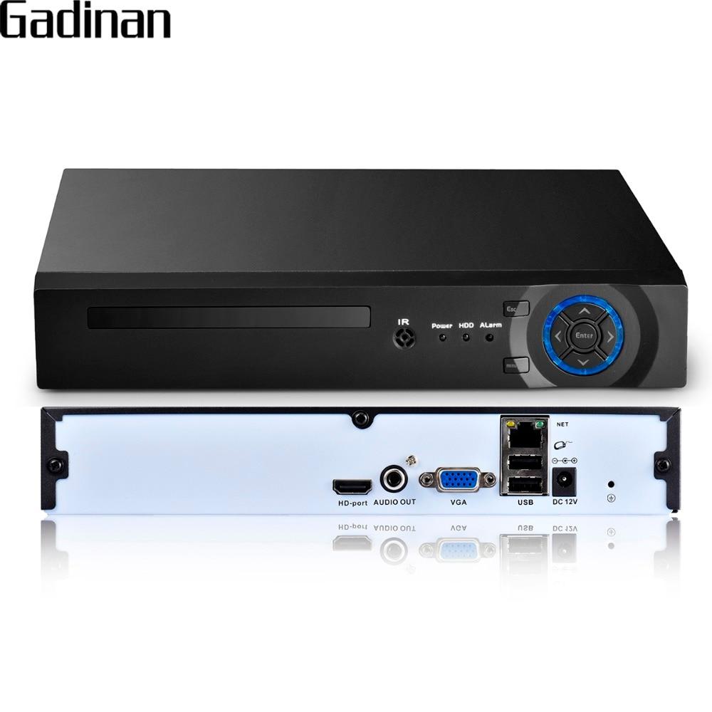 GADINAN 16 canales 5MP CCTV NVR SISTEMA DE videograbadora de red de seguridad XMEYE soporta H.265/H.264 ONVIF P2P Cloud DDNS HDMI VGA