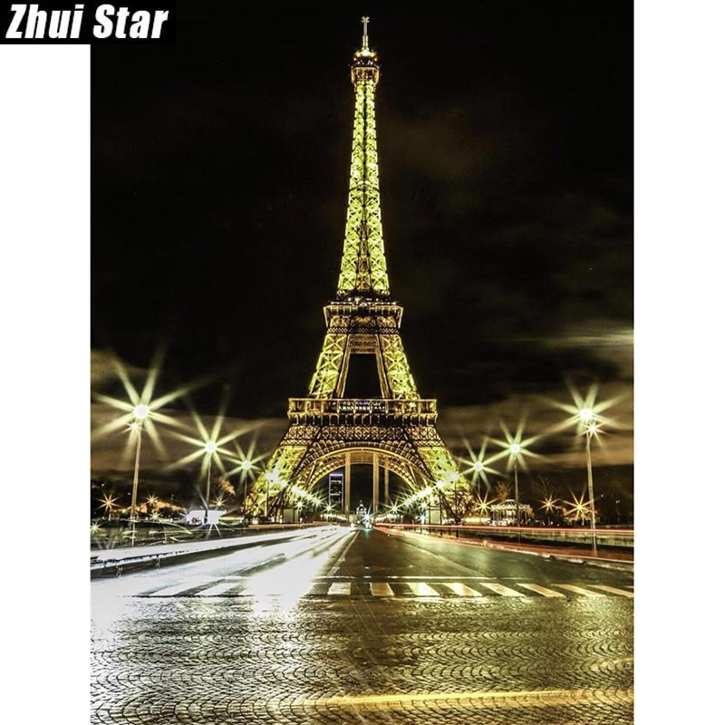 "Zhui Star Full Square Drill 5D DIY Diamond Painting ""Tower"" 3D Embroidery set Cross Stitch Mosaic Decor gift VIP"