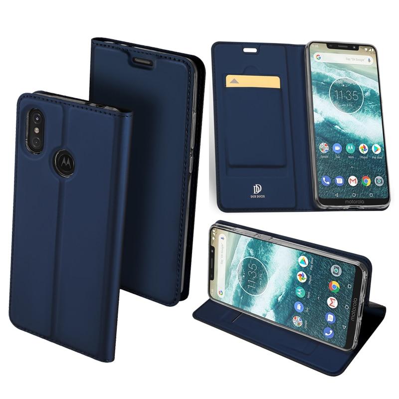 Funda de cuero Original DUX DUCIS PU para Motorola One Power lujosa funda tipo cartera con soporte y tapa para Motorola One Power